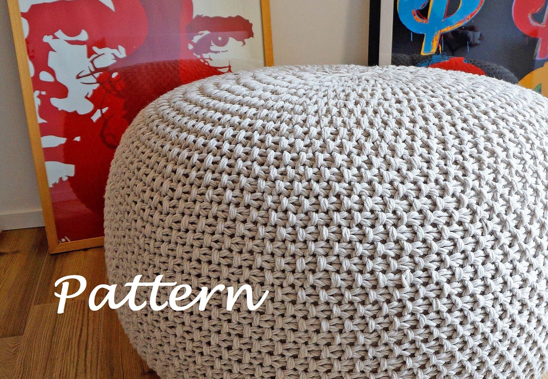 Magnificent Pouf Pattern Knit Gift - Blanket Knitting Pattern Ideas ...