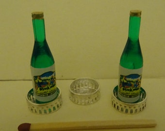 12th scale Silver Wine Bottle Coaster