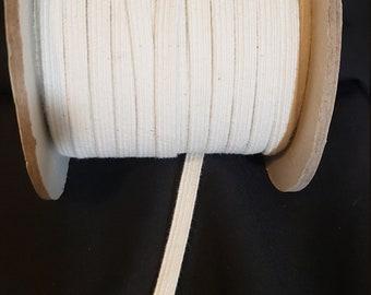 Swim Elastic, cotton swim elastic 1/4inch, swimwear elastic, bathing suit elastic, sewing elastic, knit elastic, 1/4in natural swim elastic