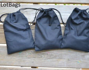 12 x 16 Inches Cotton Muslin Bag. Double Drawstring. Black Color. High Quality Bags. Great for Packaging and Stamping.