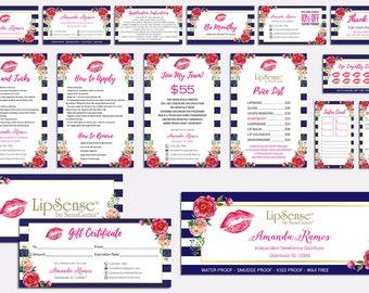 LipSense Marketing Kit, LipSense Marketing Bundle, SeneGence Business Card, LipSense Business Card, Pink Lip Package, LS03
