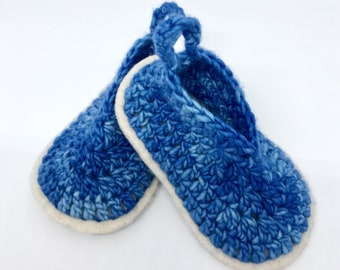 Baby Boy Booties - Crochet Baby Booties - Baby Booties - Baby Shoes - Baby Gift - Crochet Booties