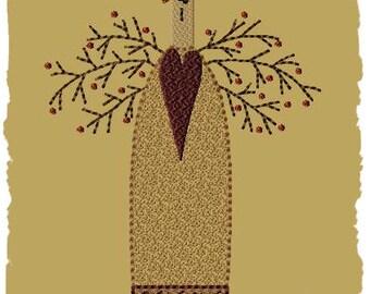 Primitive Machine Embroidery Design-Sara--Version 1--(5x7)-INSTANT DOWNLOAD