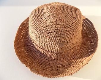 Hat straw women Hat raffia Hat crochet Sun Hat, floppy Hat Beach hat, made hand/strohhut/straw hat/raffia