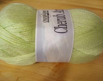 Clearance Incredibly Soft Lime Chiffon Cascade Cherub Aran Yarn 240 yards Acrylic Nylon Blend Color 56