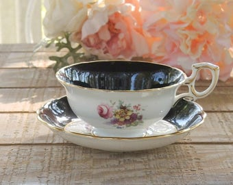 Antique English Bone China Hammersley Ornate Tea Cup and Saucer, Downton Abbey, Tea Party, Wedding