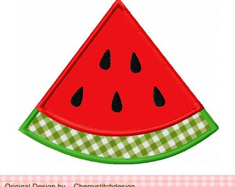 """Watermelon Machine Embroidery Applique Design -4x4 5x5 6x6"""""""