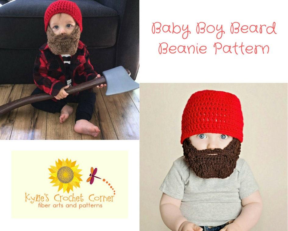 Baby Boy Lumberjack Crochet Pattern Baby Beard Beanie Crochet