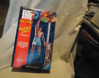 Vintage 1993 Shaq Attaq Reverse Jam Shaquille O'Neal Basketball Action Figure by Kenner In Sealed Box, collectable, nba