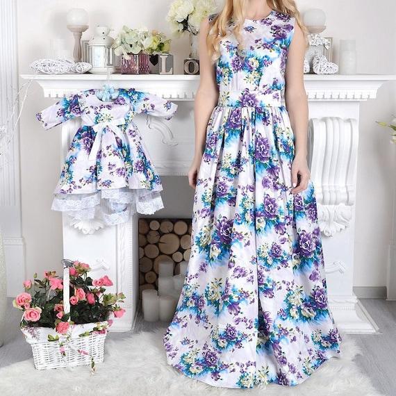 Outfit-Mutter-Tochter passende Kleid Kleider Mama und mich