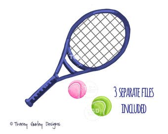 Tennis racket clip art, tennis ball clip art, sports clip art, sports clipart, preppy art, invitation design, digital clipart