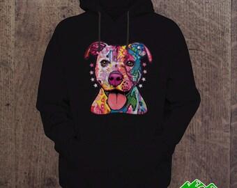 HOODIES - Neon Pitbull hoodie Animal lover I love my dog I Love my pit bull Birthday gift