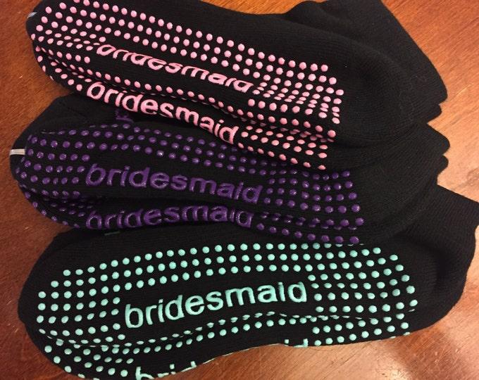 Featured listing image: Bridesmaid Sticky Socks! Reception Socks :)
