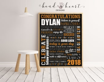 Personalized Graduation subway art printable chalkboard poster,mixed media,8x10,11x14,16x20 etc., graduation party decor