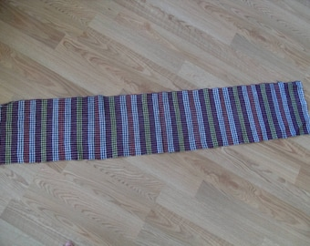 """Cotton runner for table ,cotton , runner, 12"""" x 60"""" , tablecloth"""