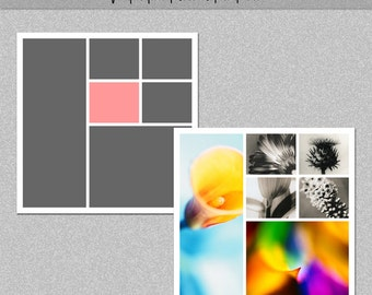 "Photo Storyboard, Photo Collage Template, Photoshop Template 12x12"" - Nr.12 - Instant Download - Instagram Template"