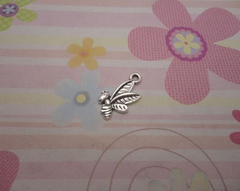 20pcs antique silver bees findings 16x12mm