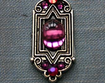 Plum Purple Deco Bindi - Tribal, ATS, Belly Dance, Facial Jewelry, Third Eye