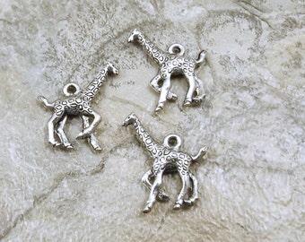 Set of Three (3) Pewter Giraffe Charms - 1903