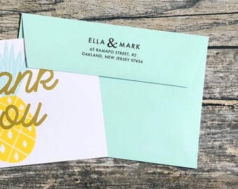 Rubber Stamp or Self Inking Stamp Personalized Custom Return Address Wedding Stationery Ampersand Name Home Sweet Home