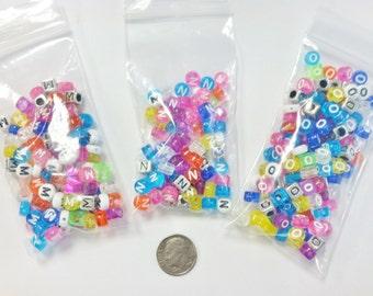 DESTASH - Plastic Alpha Beads (MNO)