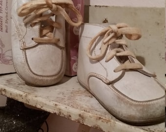 Vintage Baby Shoes Original Box