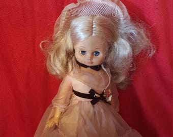 Vintage Doll with a Pink Dress