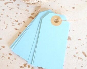 Parcel Tags Pk10 - Light Blue