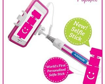 Personalized Selfie Stick - Monogrammed Selfie Stick | Gift for Teens | Graduation Gift | Holiday Fun | Birthday Gift | Travel