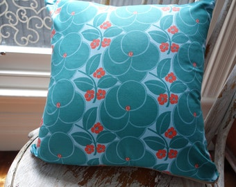 Square Cushion Cover/pillow in Amy Butler Hapi in Heart Bloom