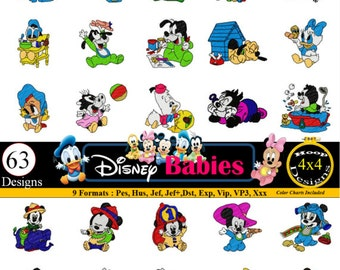 Disney Babies Machine EMBROIDERY Designs Pes, Hus, Jef, Dst, Exp, Jef+, Vip, Vp3, Xxx