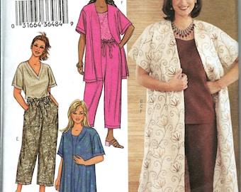 Butterick 3841 Women's/Women's Petite, Jacket, Duster, Top, Dress & Pants Pattern 22W-26W UNCUT