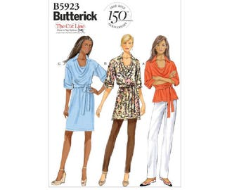 Butterick 5923 - Cowl-Neck Top, Tunic, Dress and Belt [out of print]