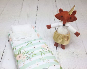 Stocking stuffer for kids woodland plush fox stuffed animals small felt animals needle felt animal woodland nursery