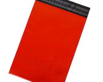 Red Poly Mailers - Pack of 100 - Free Shipping
