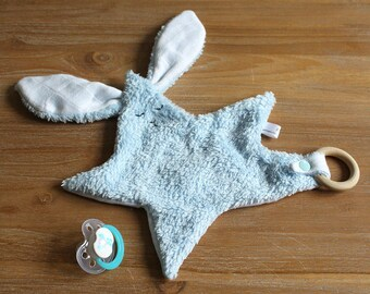 Gaspard blanket - Blue - Rabbit oeko-tex