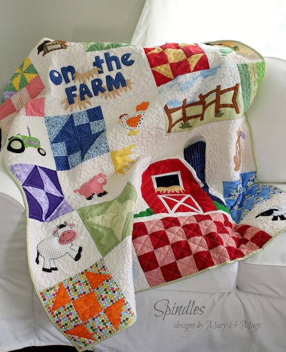 Baby Child Farm Animal Quilt Pattern Toddler Quilt Pattern