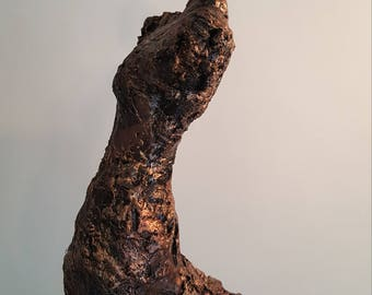 Faith - Contemporary Recycled Fabric Sculpture - Figurative Unique