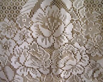 Rideau de dentelle de FRANÇAIS / Vintage français Rideau blanc rideau de dentelle florale / Filet rideau de dentelle / France / Shabby / Cottage