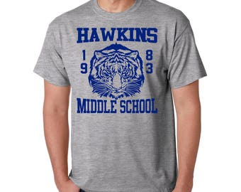 Hawkins Middle School T-Shirt - 1983 AV Club Funny Movie Style Tee