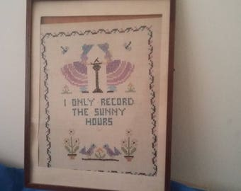 Vintage Crinoline Lady Embroidery 'I Only Record The Sunny Hours'