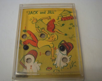 Jack and Jill Puzzle Game 1960 Game Directions Marbles Plastic