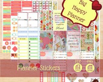 Quilt Stickers|Big Happy Planner Stickers|Happy Planner Stickers|Weekly Kits Stickers|Create 365|MAMBI