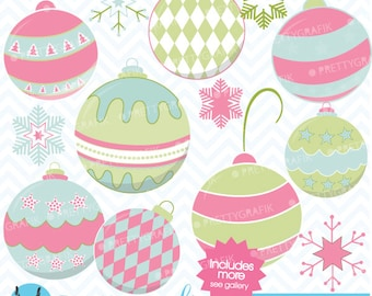 80% 0FF SALE christmas balls clipart commercial use, vector graphics, digital clip art, digital images - CL436