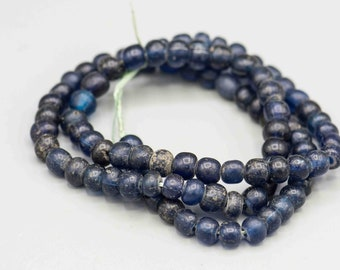 "Ancient Tradewind Beads Cobalt Blue Beads over 1000 years old 22"" Strand 8mm Beads SKU-TB-415"