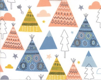 Wild and Free - TeePee Trees in Cloud by Abi Hall for Moda - 35312 11