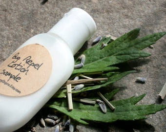 Bug repel lotion - sample sized- natural bug repelling