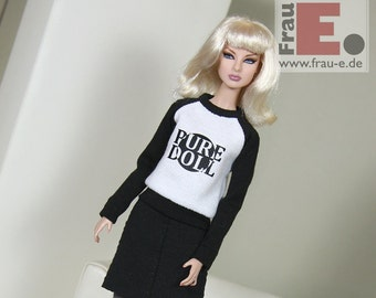 """Fashion Doll Sweater """"Pure Doll"""" - white"""