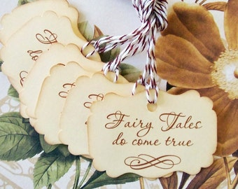 Wedding Wish Tree Tags - Fairy Tales Do Come True Party Favor Tags- Treat Bag Tag TL004