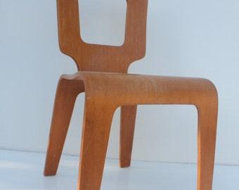Thaden Jordan Mid Century Bentwood  Birch Chair.